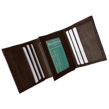 Men's premium genuine leather credit card ID trifold wallet P1107