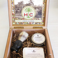 Oatmeal Milk and Honey Cigar Box Deluxe Shave/Shaving Set Kit - Xikar