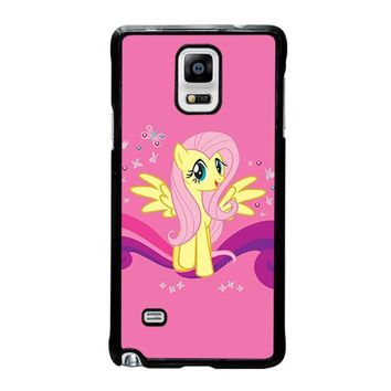 my little pony fluttershy samsung galaxy note 4 case cover  number 1