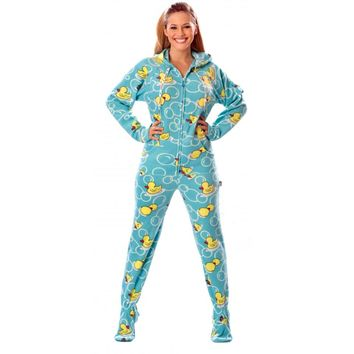 Blue Ducks Adult Drop Seat Pajamas