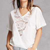 Slub Knit Lace Tee