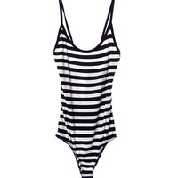 Coco's Bodysuit - Black/White Stripe