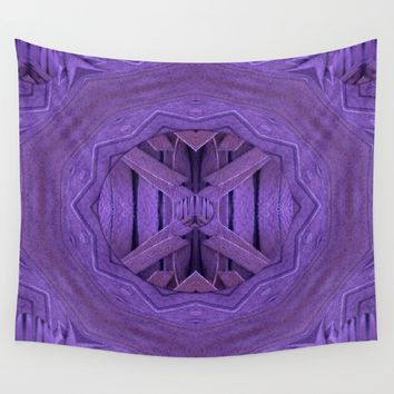 Leather in vintage style. Wall Tapestry by Pepita Selles