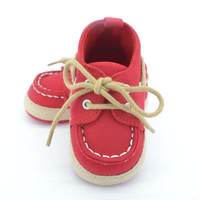 Baby Boy Girl Crib Soft Bottom Shoes Infant Toddler Shoes Sneaker Fit 0-18 Months With Cotton
