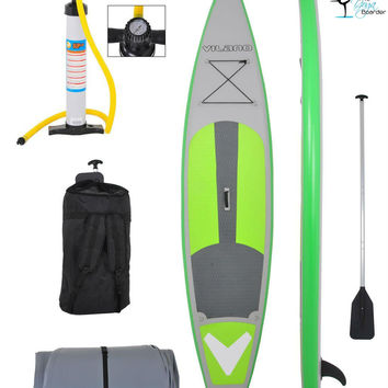 """Vilano 12' (6"""" Thick) Inflatable Touring / Race SUP Stand Up Paddle Board Complete Kit"""