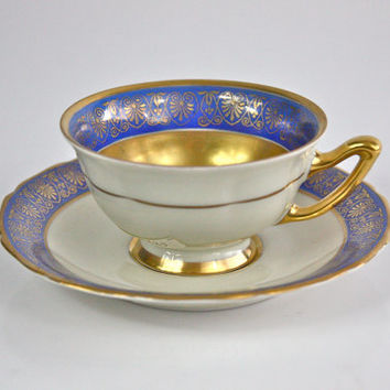 Art Nouveau Tea Cup and Saucer / Thomas Bavaria