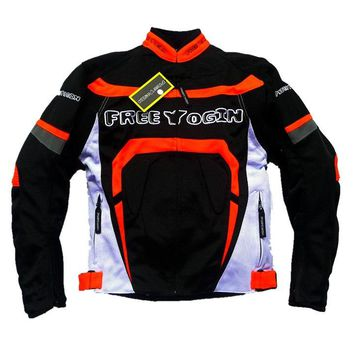 free yogin new model have pads men jackets/motorcycle jackets/riding jackets / outdoor clothing