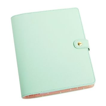 TEXTURED LEATHER PERSONAL PLANNER: MINT - Time Planner - Planners - Organising