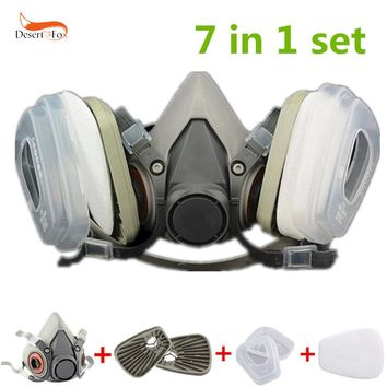 US 7 in 1 Half Face Gas Mask for 6200 Painting Spray Dust Protector Respirator