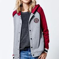 Vans Golding Varsity Snap Button Hoodie - Womens Hoodie - Grey