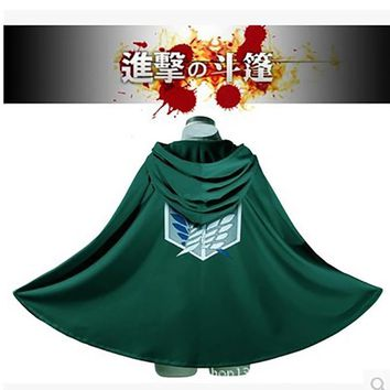 Cool Attack on Titan Anime  No  Survey Corps dom Wings Logo Capes Cloak Novelty Cosplay Costume AT_90_11
