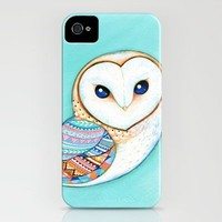 Tribal Pattern Barn Owl iPhone Case by Annya Kai | Society6