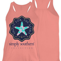 Simply Southern Shoot For The Stars Tank - Pink