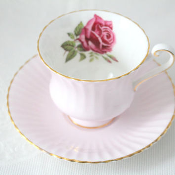 Vintage Fine English Bone China Tea Cup and Saucer by Appointment to Her Majesty the Queen by Paragon, Replacement China