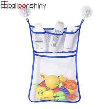 BalleenShiny Bathroom Hanging Mesh Net Storage Bag Baby Bath Bathtub Toy Storage Bag Organizer Holder Shower Toy Organiser