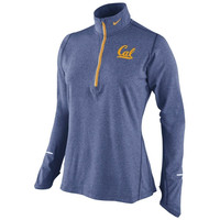 Cal Bears Nike Women's Element Half Zip Performance Pullover Top - Navy Blue