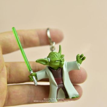 Star Wars Force Episode 1 2 3 4 5 Disney  Master Yoda 4.7cm Action Figure Posture Model Anime Decoration Collection Figurine Toys model for children gift AT_72_6