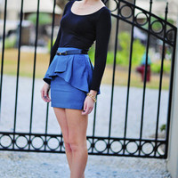 She Has Good Intentions Skirt: Teal | Hope's
