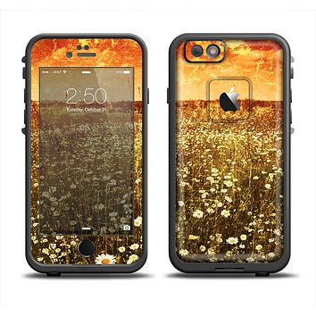 The Vintage Glowing Orange Field Apple iPhone 6 LifeProof Fre Case Skin Set