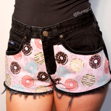 I Donut Care High Waisted Shorts