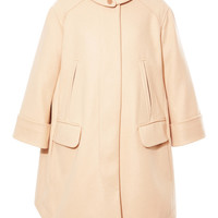 Wool-Blend Draped Trapeze Coat by Carven Now Available on Moda Operandi