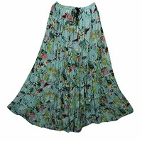 Mogul Interior Women's Maxi Skirt Floral Print Broomstick Retro Long Skirts S/M: Amazon.ca: Clothing & Accessories