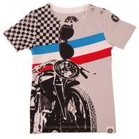 Vintage Motorcycle Baby T-Shirt by: Mini Shatsu