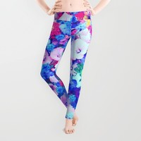 Flowers 1 Leggings by Haroulita
