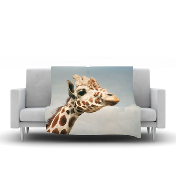 "Angie Turner ""Giraffe"" Animal Fleece Throw Blanket"