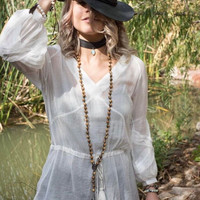 Sherry Tassel Top