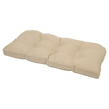 Smith & Hawken™ Outdoor Tufted Settee Cushion - Beige