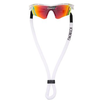 Multicoloured Print Iceberg Visor Sunglasses by Linda Farrow
