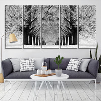 10947 - Forest Wall Art- Autumn Canvas Print- Forest Canvas- Forest Canvas Art- National Art Print- Canvas Print- Large Wall Art-