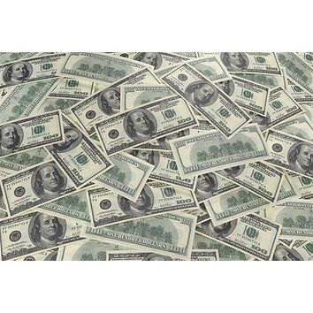 $100 DOLLAR background KITSCHY art poster 24X36 rich MONEY wealth benjamins
