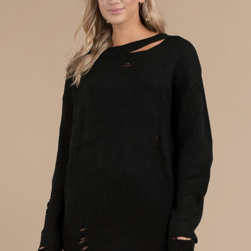 Kim Distressed Sweater Dress