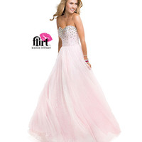 Flirt by Maggie Sottero 2014 Prom Dresses - Iridescent Pink Beaded Sequin Tulle Ball Gown