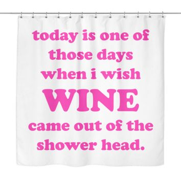 Wine Shower Curtain | The Inked Elephant