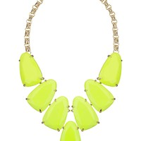 Harlow Statement Necklace in Neon Yellow - Kendra Scott Jewelry