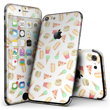 The Fun Fries,Pizza,Dogs, and Icecream - 4-Piece Skin Kit for the iPhone 7 or 7 Plus