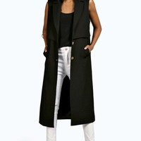 Boutique Ava Sleeveless Mac Trench Coat