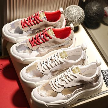 Valentino Men's Leather Fashion Sneakers Shoes