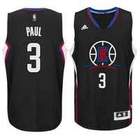 Men's LA Clippers Chris Paul adidas Black Swingman climacool Jersey