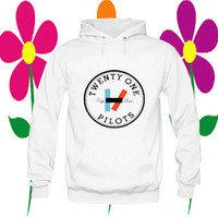 twenty one pilots hoodie white on Size : S-3Xl, adorabel and heppy feed in new year.