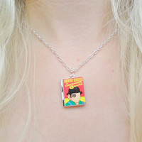A Clockwork Orange Anthony Burgess Classic Classical Literature Book Reading Silver Locket Necklace Jewellery Jewelry