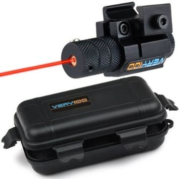 VERY100 Tactical Red Laser Dot Sight Scope with Mount For Gun Rifle Pistol