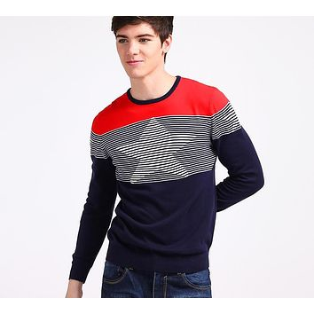 Men Knitted Sweaters Preppy Youth Pullovers Slim Regular Stars Pattern High Quality