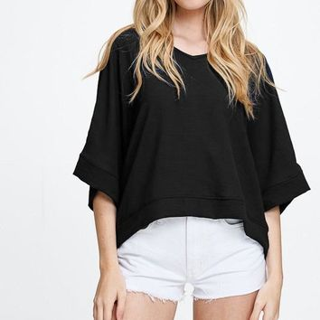 Double Life Top - Black