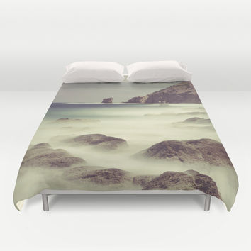 Water. Volcanic rocks. Duvet Cover by Guido Montañés