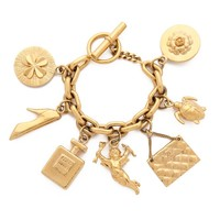 Turtle Cupid Charm Bracelet (Previously Owned)