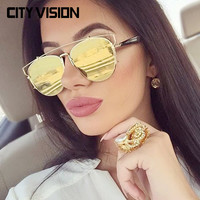 2016 New Cat Eye Sunglasses Women Brand design Points sun Men UV400 shades High Quality Metal frame Eyewear Outdoor sunglass